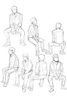 Hombre sentado art reference in 2019 character design refere Human Figure Sketches, Human Sketch, Human Figure Drawing, Figure Sketching, Figure Drawing Reference, Art Reference Poses, Sitting Pose Reference, Anatomy Drawing, Manga Drawing