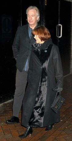 February 21, 2005 - Alan Rickman and Rima Horton attend the premiere of Hotel Rwanda in London (on his birthday!). Copyright © Rex Features