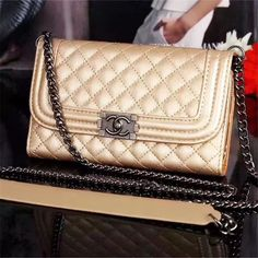 f6be8c988cd4 Buy Wholesale Long Chain Chanel Handbag Genuine Leather Case Book Flip  Holster Cover For iPhone XS - Pink from Chinese Wholesaler