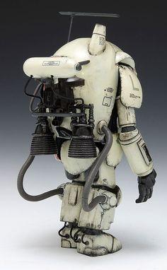 "fennetic: ""S. Space Type Fireball from Maschinen Krieger by Kow Yokoyama "" Really liking this Maschinen Krieger stuff…… Sci Fi Models, Steampunk, Robot Design, Superhero Design, Mechanical Design, Maker, Dieselpunk, Plastic Models, Scale Models"
