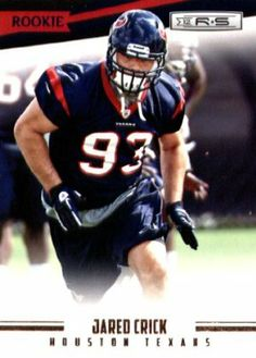 2012 Panini Rookies & Stars Football Rookie Card # 179 Jared Crick DT - Houston Texans by Rookies & Stars. $3.95. Great looking 2012 Panini Rookies & Stars Football Card!. This is just one of the 215 different cards available from this set here!. These are great items for young collectors!. Check out other listings for more cards from this set!. Card is in mint condition and shipped in a protective topload holder!. 2012 Panini Rookies & Stars Football Rookie Car...