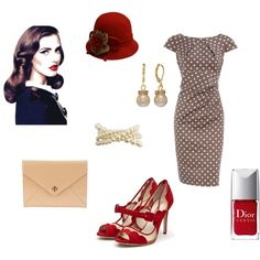 I love the 1950's look! I would totally rock this!