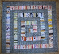 MODERN GRAY Selvage Quilt Pattern from Quilts by carolinasquirrell