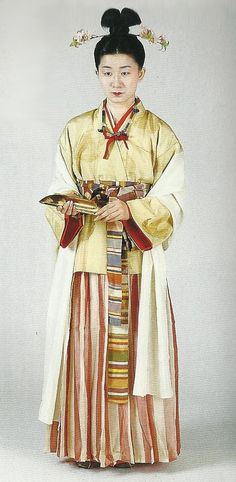 """Weaver of the Kofun Period (3rd to 6th century) , Japan. Scan from book """"The History of Women's Costume in Japan.""""  Scanned by Lumikettu of Flickr.  Japanese costume many centuries ago…recreation accomplished in Kyoto during the 1930's.."""