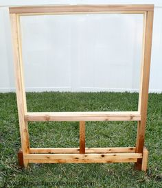 Make your own outdoor easel and use it for all kinds of painting, learning, and play.