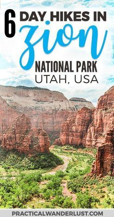The 6 best Zion National Park Hikes! Zion National Park in Utah is one of the most visited parks in the United States and for good reason. Explore this outdoor adventure wonderland on foot with these epic day hikes, plus everything you need to know in thi Zion Hikes, Utah Hikes, Nationalparks Usa, Monument Valley, Adventure Wonderland, Australia, Us National Parks, Best Hikes, United States Travel