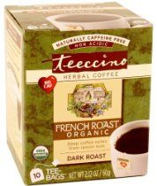 Teeccino French Roast Organic Herbal Coffee Dark Roast Caffeine Free - 10 Tee Bags //  Description Is being gluten-free important to you? Even though Teeccino has been tested to have no detectable levels of gluten at 5 parts per million when brewed using a paper filter, you may be worried that you might still experience a reaction to the barley in Teeccino. Understanding that gluten-sensitive peop// read more >>> http://Rummel727.tca9.com/detail3.php?a=B005P0GH2A