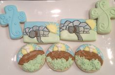 Resurrection, Empty Tomb, Crosses, Easter Cookies - Decorated Sugar Cookies by I Am The Cookie Lady