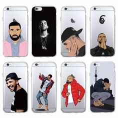 Cute Sexy Drake One Dance 6 God 1 800 Hotline Bling Soft Phone Fundas Coque For iPhone 7 7Plus 6 6S 6Plus 5 5S SE 5C SAMSUNG