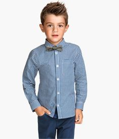 H&M Cotton Shirt with Bow Tie