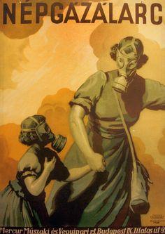 Népgázálarc, Mercur Műszaki és Vegyipari Rt. Budapest IX. Illatos út 9. Hollós Endre, 1938.  A Sziklakórház Múzeum gyűjteményéből