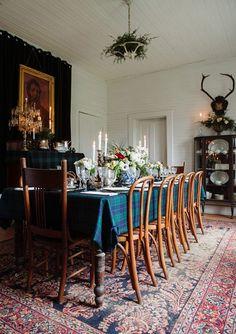 Rustic Formal Christmas Table Setting