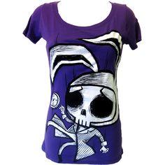 Akumu Ink Skull Bunny T-Shirt | Gothic Clothing | Emo clothing |... ❤ liked on Polyvore