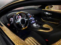 Mansory Bugatti Veyron linea Vincero d oro Interior... nice... does it come in silver?