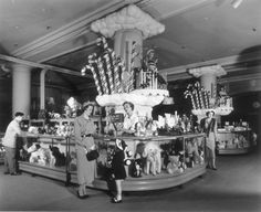 Candy Cane Lane at Marshall Field's, 1949, Chicago.