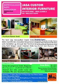 Jasa Furniture KitchenSet Wardrobe TV Cabinet Pantry Mini Bar Restoran