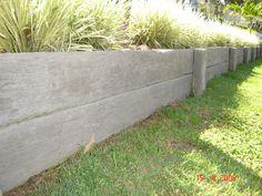concrete sleepers retaining walls