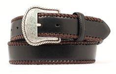 Top Hand Basic Western Belt in Black
