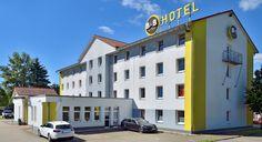 Außenansicht des B&B Hotels #Freiburg-Nord