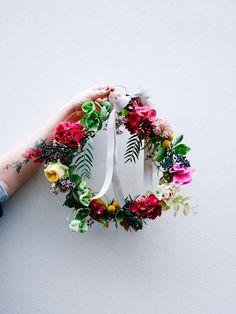 DIY une couronne de fleurs
