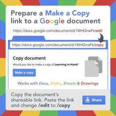 URL trick to force users to make a copy of a Google document.
