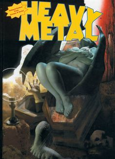 Heavy Metal: The Best of Richard Corben from Creepy and Eerie! Arte Heavy Metal, Heavy Metal Comic, Heavy Metal Rock, Metal Magazine, Magazine Art, Magazine Covers, Horror Comics, Marvel Comics, Dark Fantasy