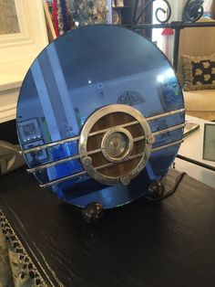 RARE Vintage Art Deco Sparton Blue Mirrored Bluebird Radio | eBay