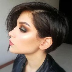 Today we have the most stylish 86 Cute Short Pixie Haircuts. We claim that you have never seen such elegant and eye-catching short hairstyles before. Pixie haircut, of course, offers a lot of options for the hair of the ladies'… Continue Reading → Short Hairstyles For Thick Hair, Short Brown Hair, Short Straight Hair, Short Hair Cuts, Curly Hair Styles, Brown Hairstyles, Pixie Styles, Long Pixie Cuts, Hairstyles 2018