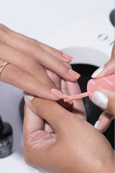 Isn't this shade just peachy? This is 'I'll Have A Gin and Tectonic' from the new OPI Iceland collection.