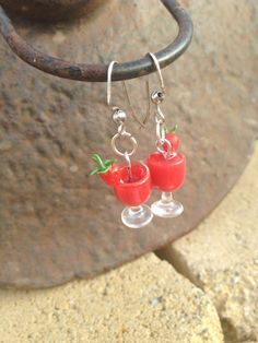 Hey, I found this really awesome Etsy listing at https://www.etsy.com/listing/122416863/strawberry-daiquiri-earrings