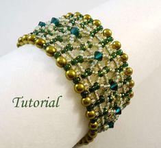 Tutorial Olivine Bracelet - Beading pattern PDF