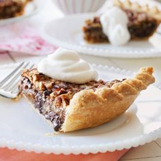 Chocolate Pecan Pie | 5 New Thanksgiving Pie Recipes by Hallmark - maybe I'll make this for thanksgiving this year. @Angie Garcia what do you think?