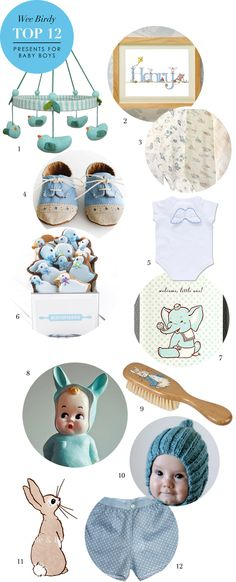 The Top 12 Presents for Baby Boys via WeeBirdy.com.