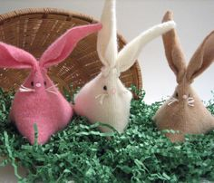Awww - I love these cute little upcycled sweater bunnies.