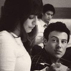I love the way he looks at her <3 Finchel