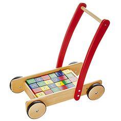 Buy John Lewis Wooden Baby Walker and Bricks Online at johnlewis.com