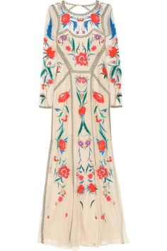 Temperley london. Eliah embroidered tulle dress...looking delicious from the front, the back a mystery...one that'll not be solved by yours truly, here in America with no place for a tulle dress, but if I did that would be a pretty choice!