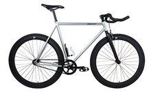 On Sale: http://fixiecycles.com/shop/bikes-bikes/projekt-fixie-steel-stealth-fixed-gear-bike-with-pursuit-bullhorn-handlebar-silver-57cm/  -  Projekt Fixie - Steel Stealth Fixed Gear Bike with Pursuit Bullhorn Handlebar - Silver, 57cm #fixie