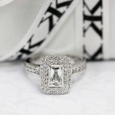 Diamond double halo engagement ring by Kalfin Jewellery #diamonds#diamondringsmelbourne #diamondengagementrings #engagementringsmelbourne #cbdjewellers #melbourne #diamondring #fashionbloggers #stylebloggers #beauty #diamondjewellers #melbourne #couture #luxury www.kalfin.com.au