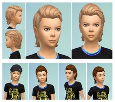 Sims 4 Updates: Birksches Sims Blog - Hairstyles : Slickback Hair for Boys, Custom Content Download!
