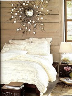 Amazing Pottery Barn Raindrop Mirror and Bedding or Heavenly Pottery Barn Bedroom