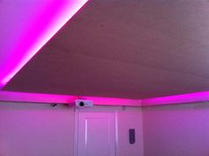 Colored led light. Projector. Home Cinema