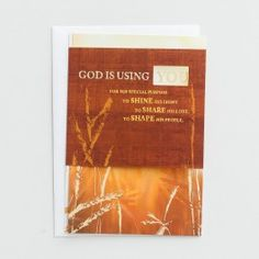 Ministry Appreciation - God Is Using You - 1 Premium Card   DaySpring