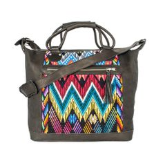 Chi Chi Luxe Grande Maletta Kaleidoscope - Athinaeum - One Off Hand Made Mayan Handbags + Accessories. Handmade. Tribal.