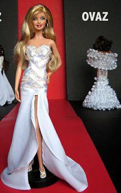 bride doll, fashion doll, red carpet look