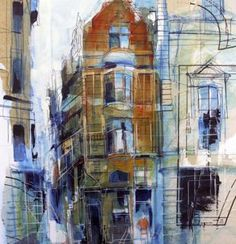 Rob Wilson, (painting of Manchester, no title)