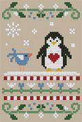 The Floss Box | Penguin Love Cross Stitch