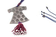 CAFTAN DANCE Bronze Tassel Necklace