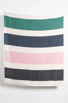 Zigzagzurich Striped Artist Cotton Blankets / Throws By Michele Rondelli - Rose Jacquard Loom, Summer Stripes, Cotton Blankets, Artist At Work, Tapestry, Rose, 40 Degrees, Woven Cotton, Beach Pool