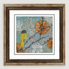 Featuring a wren perched on a branch, our colorful Little Wren II wall art makes a decorative addition to the bedroom or office. Handcrafted artwork is giclée-printed on paper under a glass window, and beautifully framed for elegant, easy hanging.
